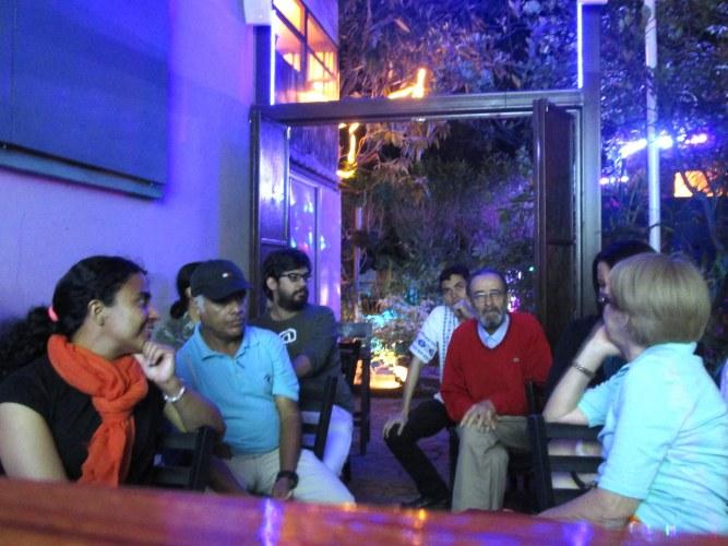 Rafal Compartiendo con algunos de los asistentes