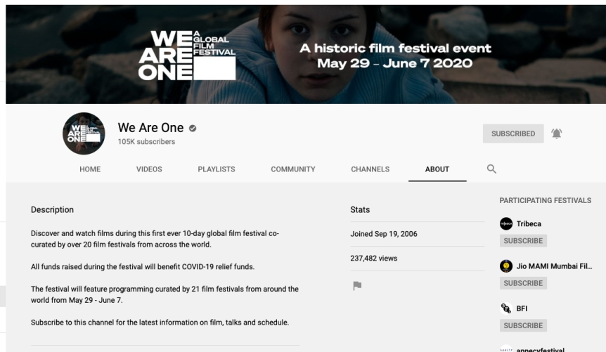 canal de We Are One